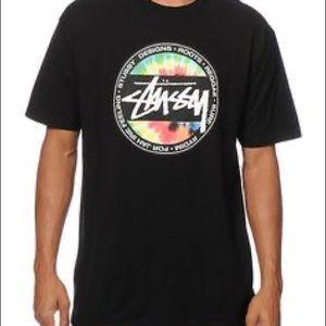 ✌🏼 Stussy - Circle tie dye logo tee shirt